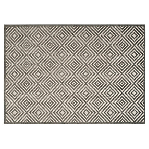 Napa Outdoor Rug, Cream/Gray