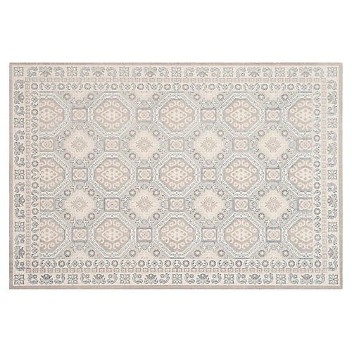 Daly Rug, Light Gray/Ivory