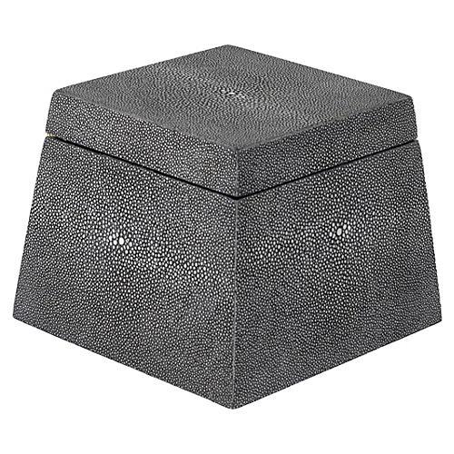 Shagreen-Style Birdie Box, Black