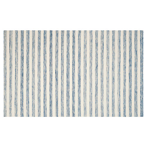 "Dhurries 575 Blue / Ivory 2'6"" X 10'"