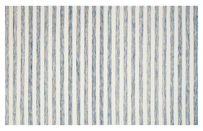 Anyu Flat-Weave Rug, Blue