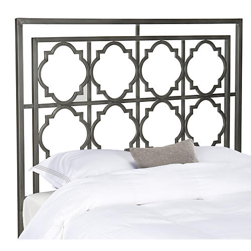 Leah Headboard, Antiqued Iron