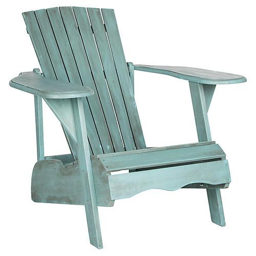Mopani Adirondack Chair, Aqua
