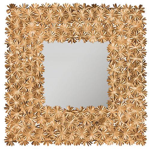 "Vivian 25"" Wall Mirror, Antiqued Gold"