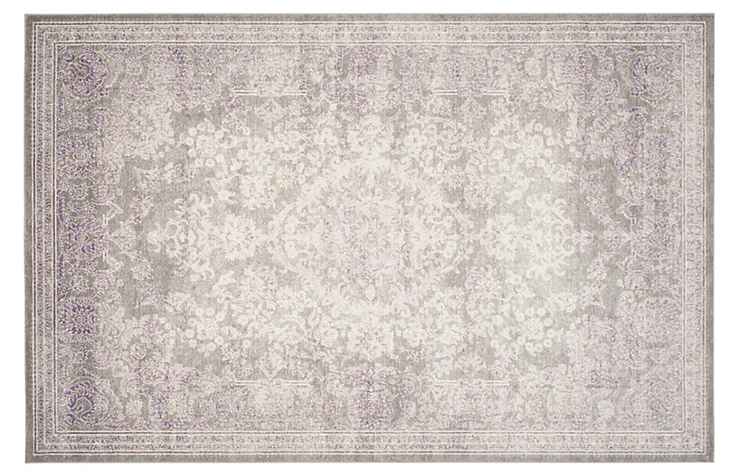 Marcelle Rug, Gray/Lavender