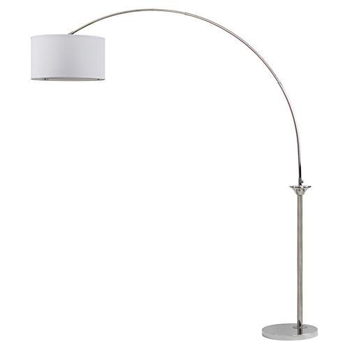 Corona Arc Floor Lamp, Nickel