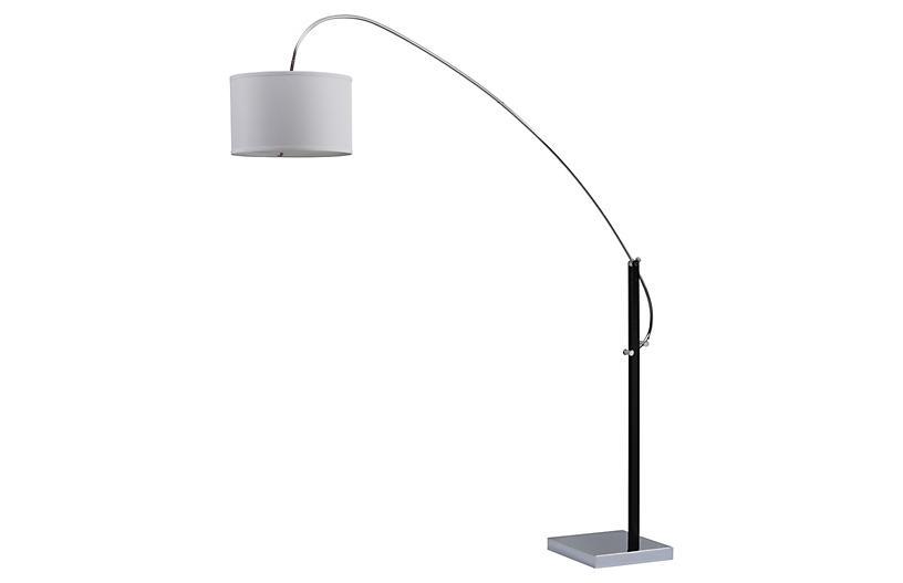 Columba Arc Floor Lamp, Chrome