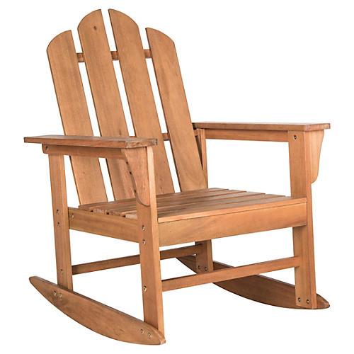 Outdoor Moreno Rocking Chair, Natural