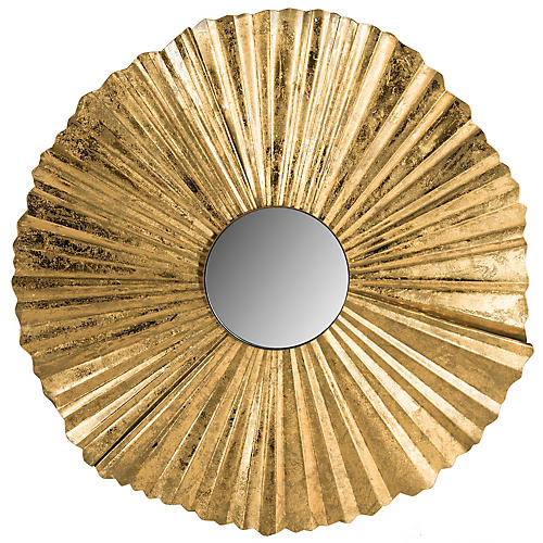 "Mae 35"" Wall Mirror, Gold"