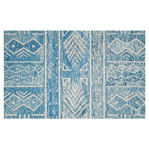 Ignacio Rug, Blue/Ivory