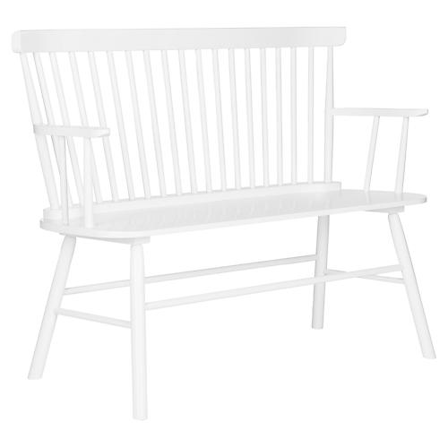 "Addison 48"" Settee, White"