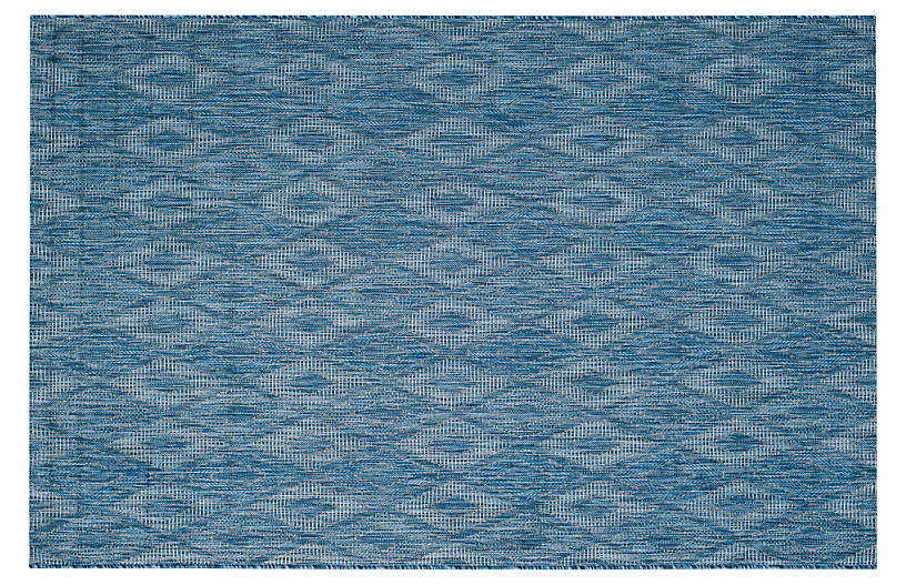 Ettore Outdoor Rug, Navy