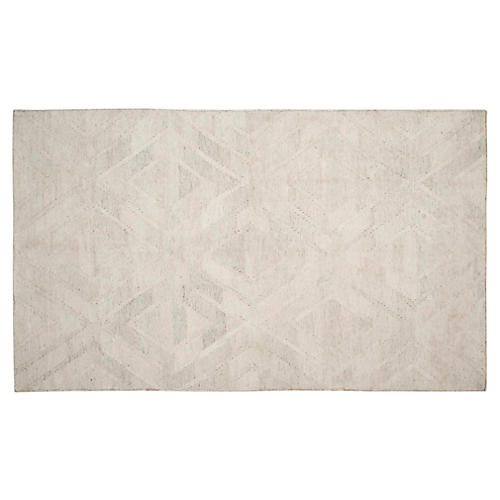 Cassia Kilim, Light Gray/Ivory