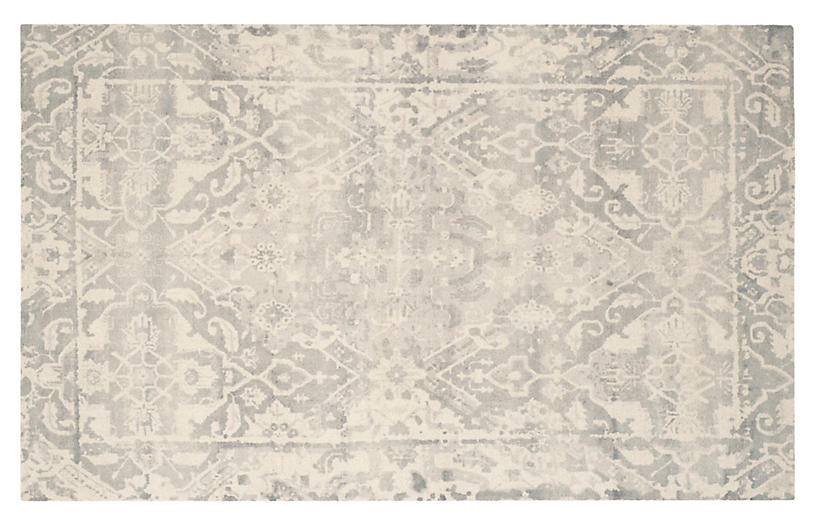 Staci Rug, Light Gray/Ivory