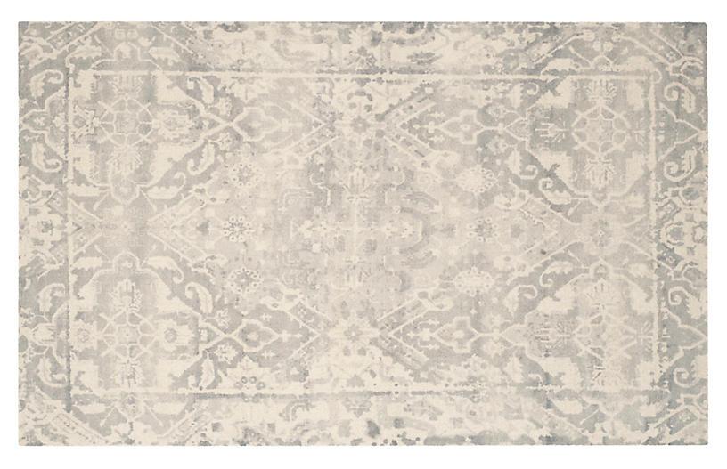 Staci Rug, Light Gray/Ivory