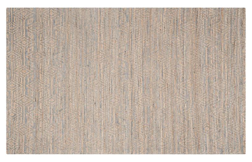 Province Jute-Blend Rug, Gray/Sand