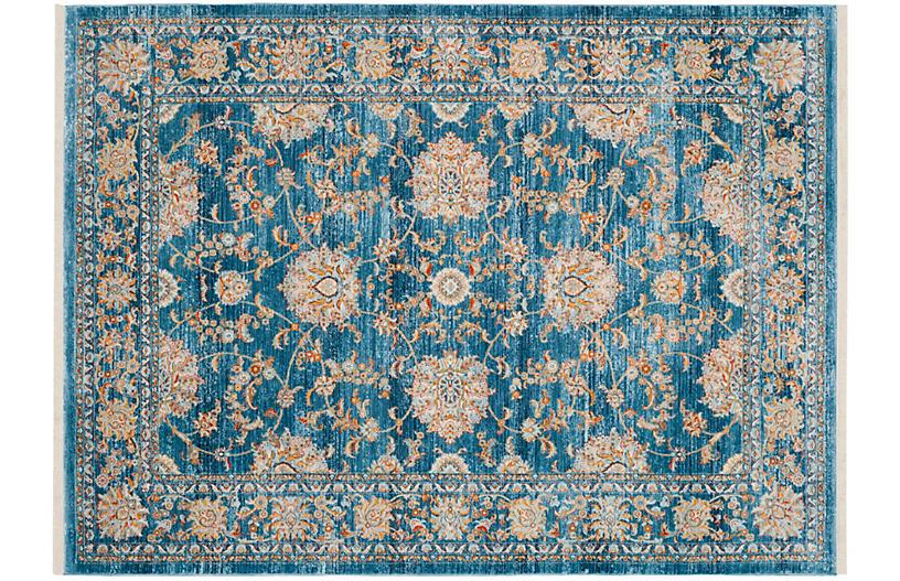 Roxanna Rug, Turquoise/Multi