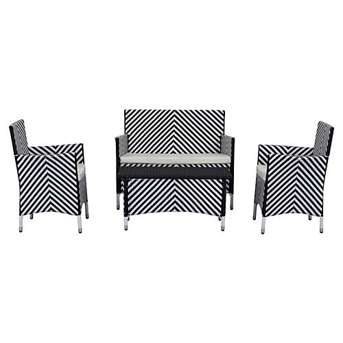 Ceuta 4-Pc Outdoor Set, Black
