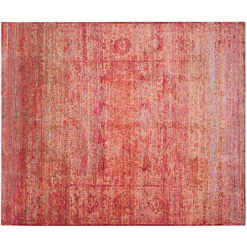 Nancy Overdyed Rug, Red/Gold