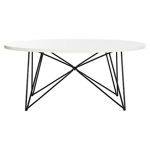 Manor Coffee Table, White/Black