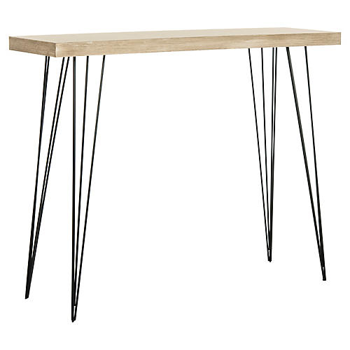 "Winfield 39"" Console, Natural/Black"