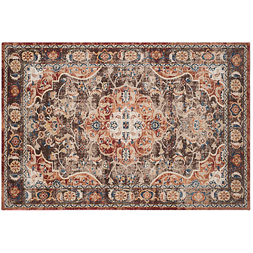 Britton Rug, Brown/Rust