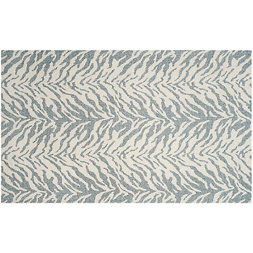 Paterson Flat-Weave Rug, Blue/Ivory