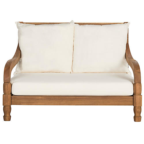 Baker Outdoor Loveseat, Natural