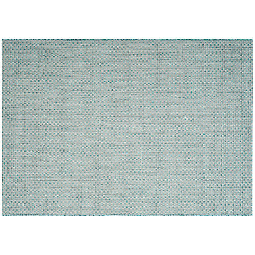 Siamaq Outdoor Rug, Light Blue/Light Gray