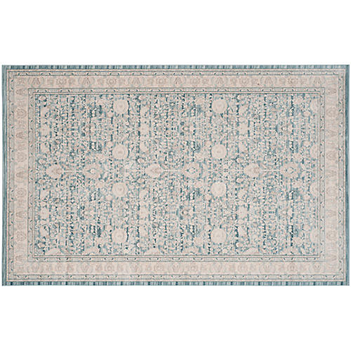 Zabby Rug, Blue/Gray