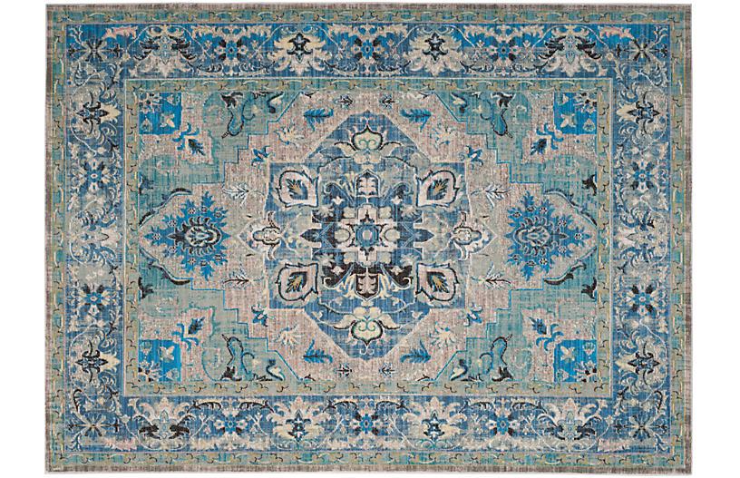 Whistlewood Rug, Blue/Light Gray