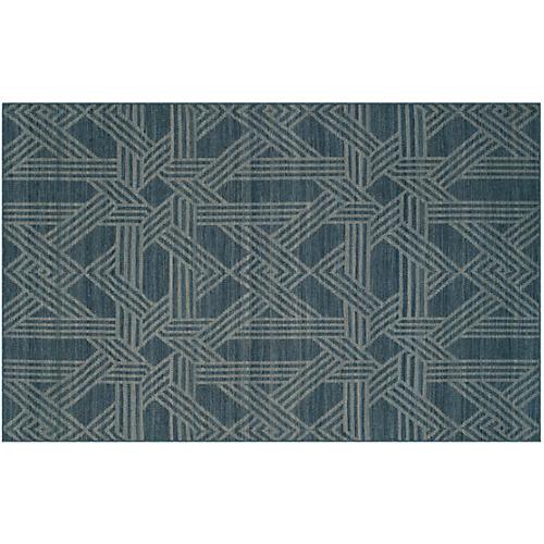 Byington Rug, Blue/Gray