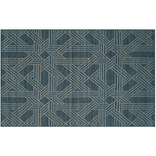 Byington Rug, Blue/Gray