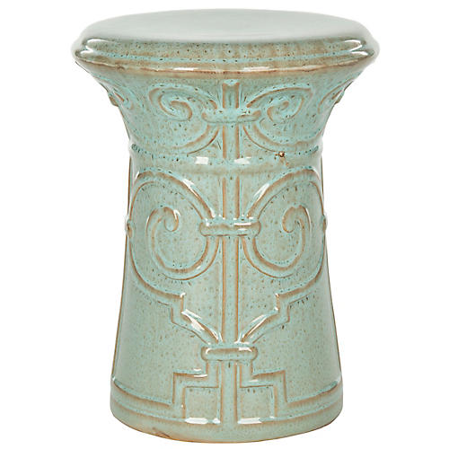 Kono Garden Stool, Blue
