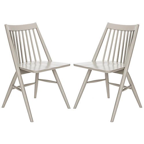 S/2 Bledsoe Side Chairs, Gray