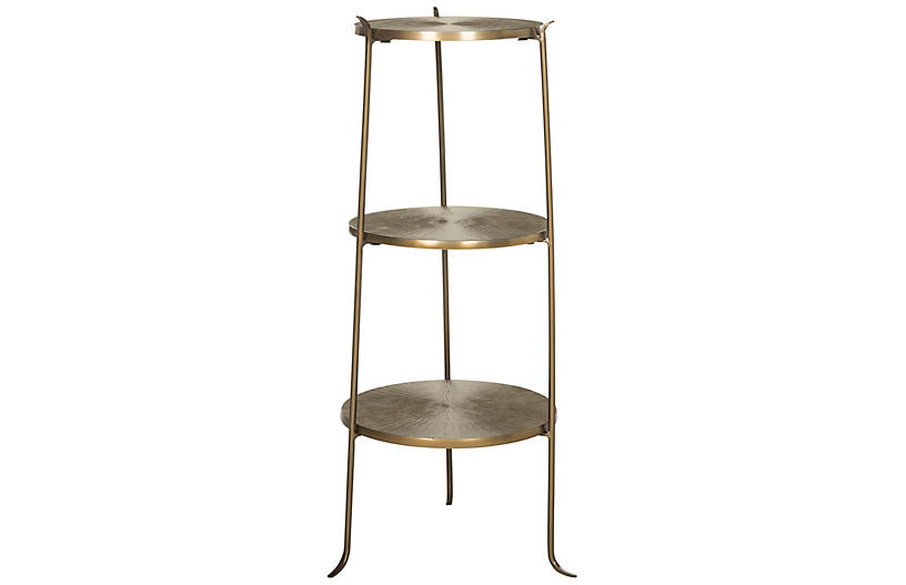 Grae Side Table, Brass