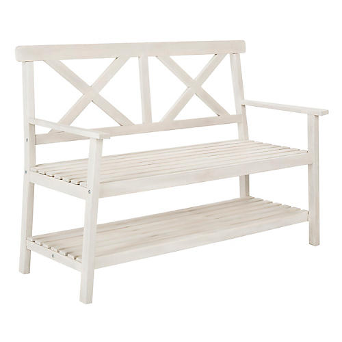 Mayer Bench, White
