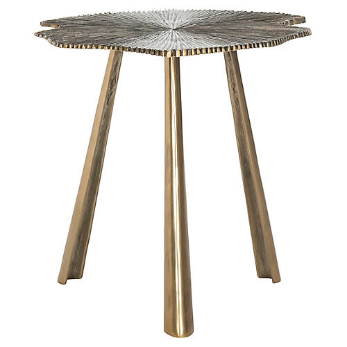 Portia Side Table, Brass