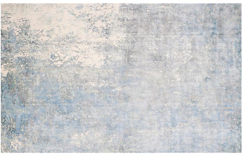 Isetta Rug, Aqua/Ivory