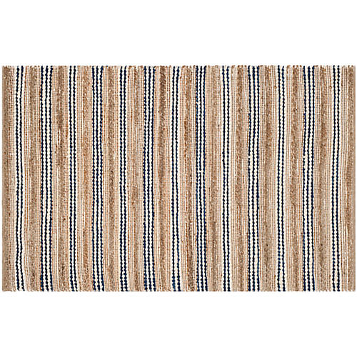 Cermak Rug, Natural/Blue