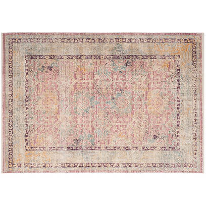 Atitlan Rug, Rose/Light Gray