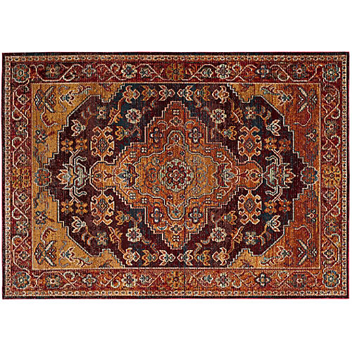Nakuru Rug, Ruby/Gold