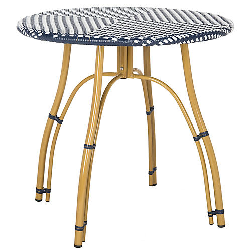 Lillie Bistro Table, Navy/White