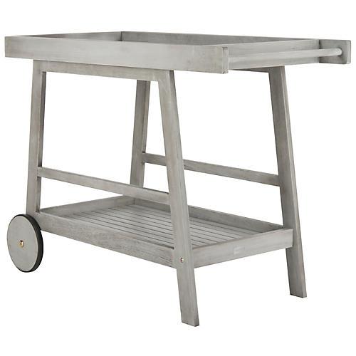 Renzo Bar Cart, Gray