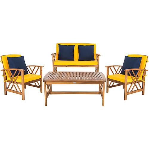 Fontana Lounge Set, Yellow/Navy