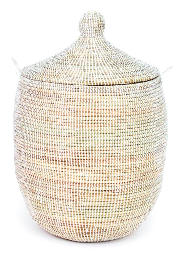 Medium Woven Hamper, Natural