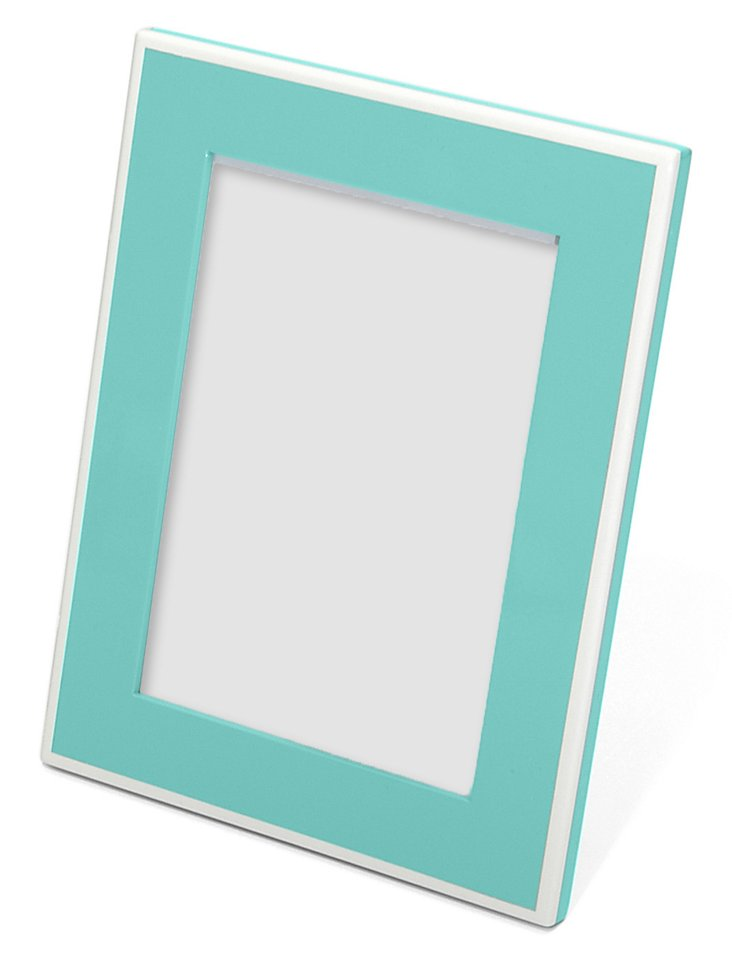 Elle Lacquer 5x7 Frame, Turquoise