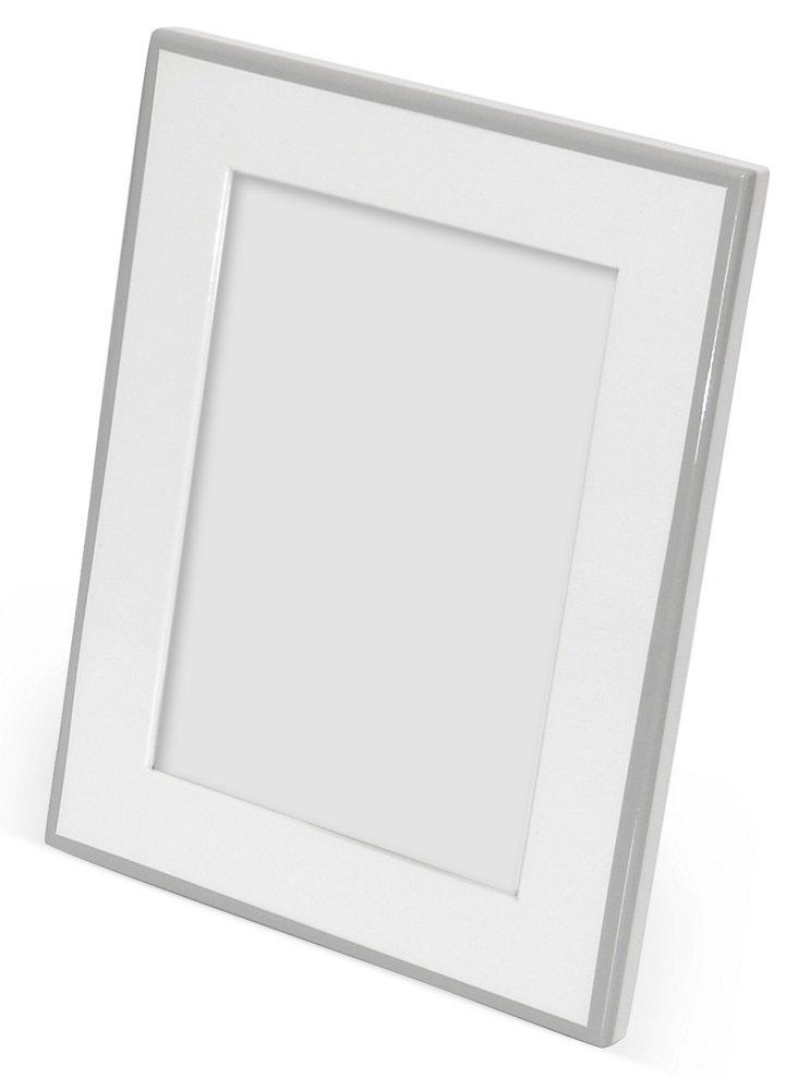 Elle Lacquer Frame, 5x7, White