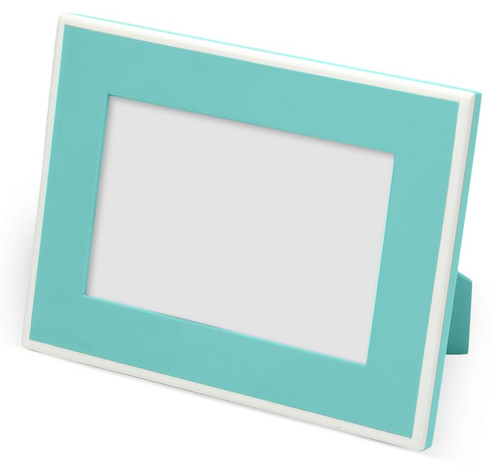 Elle Lacquer Frame, 4x6, Turquoise