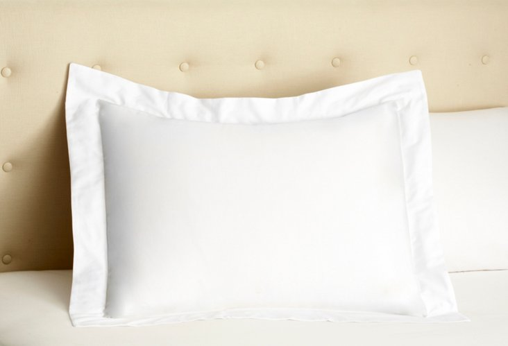 Single Hemstitch Sham, White